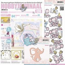 Hobbyjournaal 120 + knipvel Yvonne 460 & YCD10021 olifant