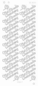 Stickervel Platinum CD3005 Met oprechte deelneming
