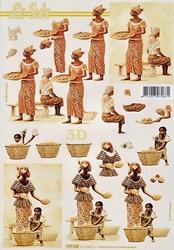 A4 Knipvel Le Suh 777123 Afrikaanse vrouwen