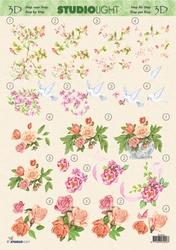 A4 Knipvel Studio Light MIR 055 Bloesem & rozen