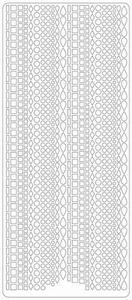 Stickervel 2234 Kleine figuren cirkel, druppel, 4-kant