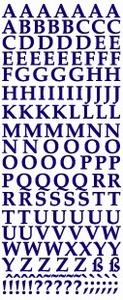 Stickervel Voorbeeldkaarten 133 Alfabet/letters