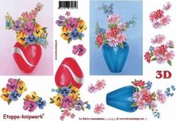 A4 Knipvel Le Suh 4169226 Vaas met viooltjes ea bloemen