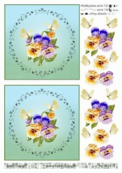 A4 DOTS Stappenvel Barto Design 67319 Bloemen vlinder