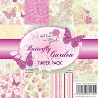 Wild Roses Studio Paper Pack PP010 Butterfly Garden