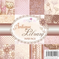 Wild Roses Studio Paper Pack PP040 Antique Library