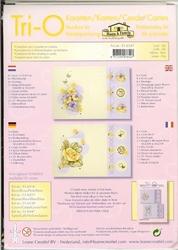 Leane Creatief Tri-O kaarten borduurkit 516547 geel/blauw