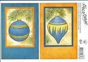 Deco Draw Borduurkaart DD001 Kerst Kerstballen