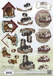 3D Knipvel Amy Design CD10452 Animal Medley Mans best friend