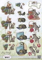 3D Knipvel Amy Design CD10453 Animal Medley Felines/poezen