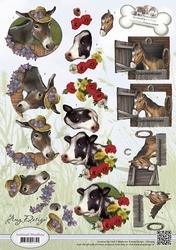 3D Knipvel Amy Design CD10454 Animal Medley Farm Animals