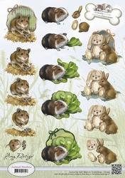 3D Knipvel Amy Design CD10455 Animal Medley Rodents