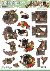 3D Stansvel Amy Design SB10024 Animal Medley Horse and Cow