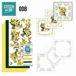 Stitch and Do borduursetje STDO008 Gele bloemen