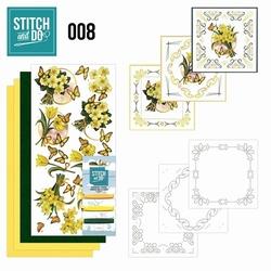 Stitch and Do borduursetje STDO008 Gele bloemen