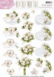 3D Knipvel Precious Marieke CD10468 Romance Flowery gift