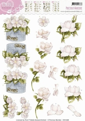 3D Knipvel Precious Marieke CD10469 Romance Roses