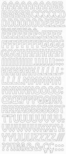 Stickervel Peel-off 2123 Letters
