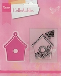 MD Collectables COL1308 Birdhouse flowers/vogelhuisje