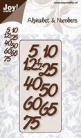 Joy stencil Alphabet & Numbers 6002-0138 Jubileum cijfers