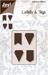 Joy stencil Labels & Tags 6003-0028 Vlaggetjes