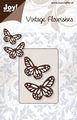 Joy stencil Vintage Flourishes 6003-0033 Vlinders