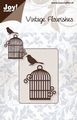 Joy stencil Vintage Flourishes 6003-0034 Vogel en kooi