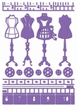 Couture Creations Embossing folder 723646 Haute Couture