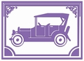 Couture Creations Embossing folder 723663 Driving Miss Daisy