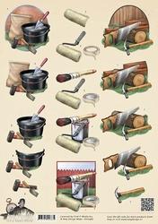 3D Knipvel Amy Design CD10487 Its a Mans World Klussen