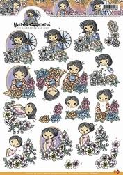 3D Knipvel Yvonne Creations CD10222 Geishas