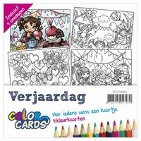 Color Cards 4 Yvonne Creations YCCC10004 Verjaardag