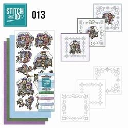 Stitch and Do borduursetje STDO013 Vogelhuisjes
