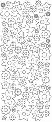Stickervel Sticky Shapes STS-0009 Bloem