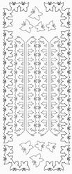 Stickervel Sticky Shapes STS-0060 Vlinder lijnen