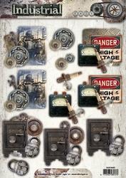 A4 Stansvel Studio Light EASYIN387 Industrial Vintage Kluis