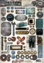 A4 Stansvel Studio Light 388 Industrial Vintage Gereedschap