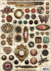 A4 Stansvel Studio Light 384 Vintage Specials Buttons ea