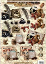 A4 Stansvel Studio Light 383 Vintage Koffie/speelgoed ea