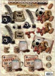 A4 Stansvel Studio Light EASYSL383 Vintage Koffie/speelgoed