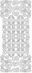 Stickervel Sticky Shapes STS-0062 Bloemen lijnen