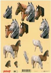 3D Knipvel Pick UP Pu022 Paarden