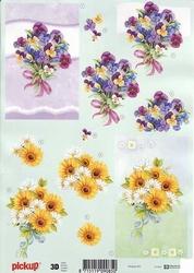 3D Knipvel Pick UP Pu057 Boeket bloemen