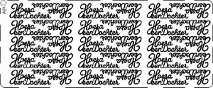 Stickervel PickUp 052 Hoera een dochter