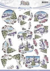 3D Knipvel Yvonne Creations CD10521 Landscape