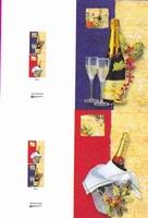 Kaart met pyramide stansvel 506-6077 Nieuwjaar/feest/drank