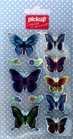 Mix and Match 8 zelfklevende vlinders 200070 blauw