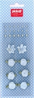 Mix and Match embellishments parels en roosjes 200010 blauw