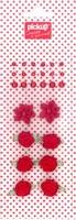 Mix and Match embellishments parels en roosjes 200011 rood