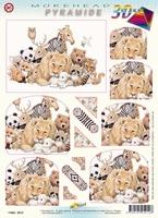Hobbypost 3D Stansvel Pyramide 6012 Leeuw/panda/zebra ea